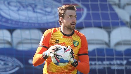 Tim Krul of Norwich in action during the Sky Bet Championship match at The Kiyan Prince Foundation S