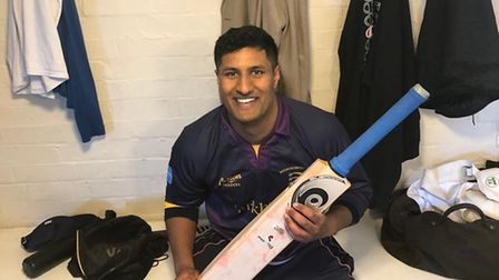 Brondesbury's Lalit Bose scored his first century for the club