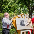 The unveiling of Islington Heritage Trail's first plaque honouring Bob Crossman.