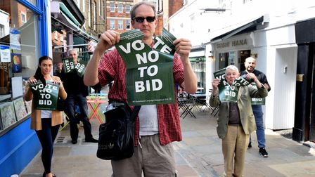 Hampstead traders rip up their Vote No To BID posters