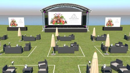 An idea of how the 'squares' will work at the event, with the VIP zone closest to the stage