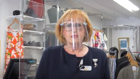 Sandy Seaman, the relief manager at Farleigh Hospice's shop in Great Dunmow