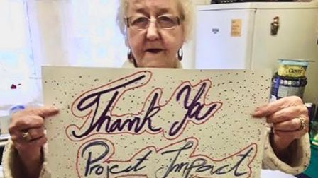 Older members of the community have thanked Project ImpACT's volunteers for brightening their pandemic