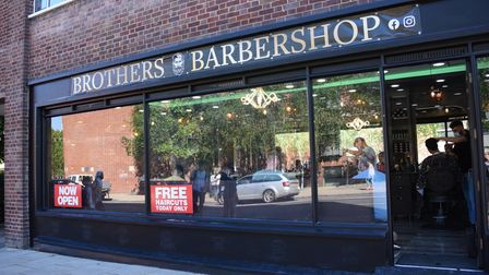 The new Brothers Barbershop next to the Theatre Royal. Picture: DENISE BRADLEY