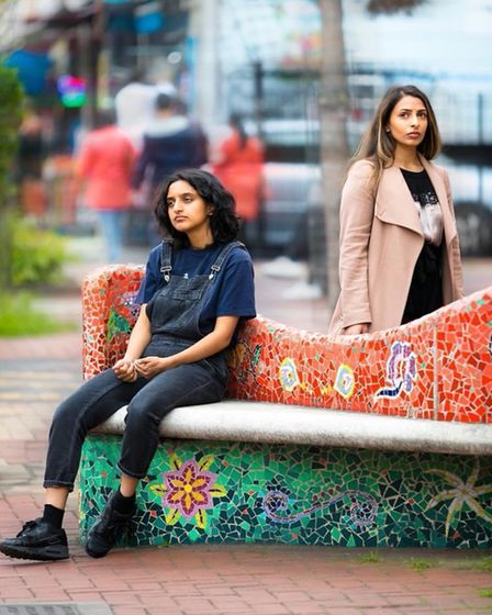 Humaira Iqbal landed a lead role in the Rabiah Hussain's play Spun at the Arcola Theatre, withAasiya Shah (left).