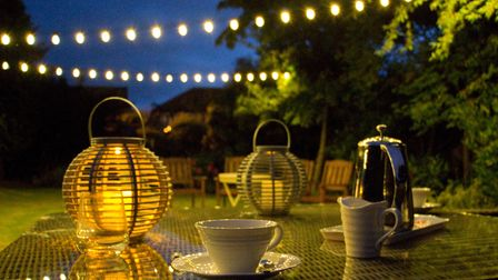 Ambient garden lighting will see you through into the evening.