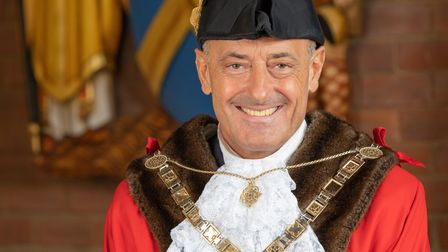 Thenew mayor for St Albans - Councillor Edgar Hill.
