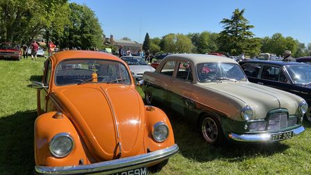 Classic cars on display at the Stody Classic Vehicle Day.