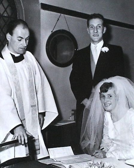Ruth and Eric Goldie's wedding day.