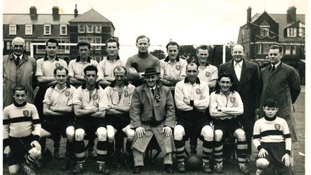 A Great Yarmouth Town FC line-up from the 1953/54 season.