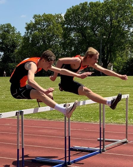Will Lawler and Ed Laws of Stevenage & North Herts Athletics Club