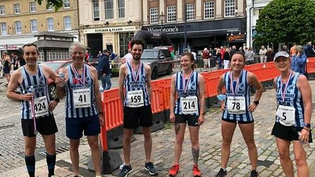 Fairlands Valley Spartans at the Hitchin 10k