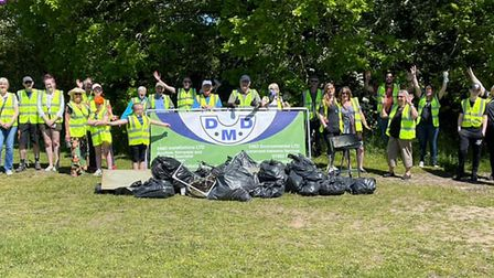 Taverham and Drayton Litter Pickers collected 26 bags of rubbish at the weekend