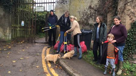 Friends of Audley Park litter picking volunteers
