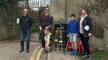 Friends of Audley Park collecting litter