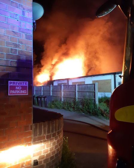Fire at Abbeville Lodge Acle New Road Great Yarmouth