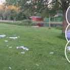 Jon Williamson found a huge amount of rubbish in his neighbouring park over Bank Holiday weekend