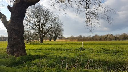 Wanstead Flats where a makeshift morgue is being built. Picture: Liz Whitworth