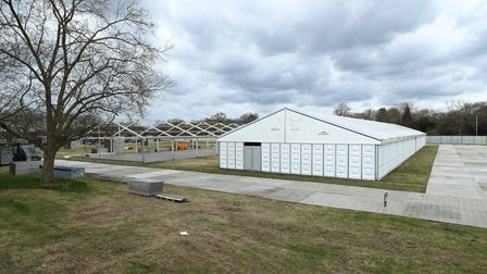 A temporary mortuary for coronavirus victims is being built at Wanstead Flats. Picture: Yui Mok/PA