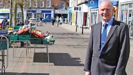 Police and crime commissioner Darryl Preston on a visit to Wisbech