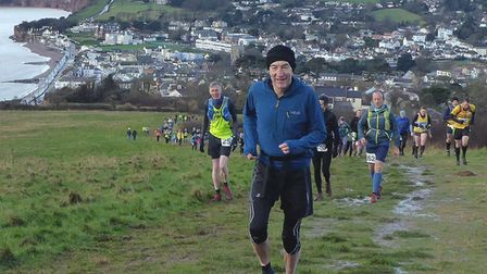 John picturedrunning up Salcombe Hill during the 4 Trigs Challenge