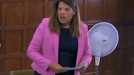 Caroline Nokes, former minister of state for immigration, speaks in parliament. Photograph: Parliame