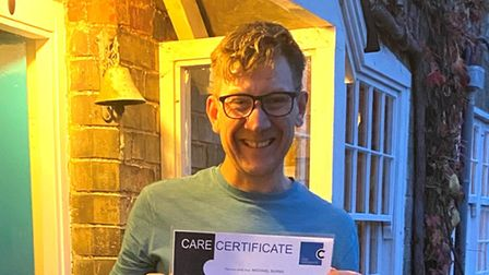 West End and screen actor Mike Burn found a new calling in social care after hefound himself out of work during the pandemic