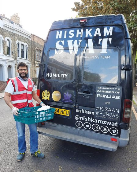 Volunteer Mundeep Grewal works with the charity Nishkam Swat and their motto is 'Serving Humanity with Humility.'