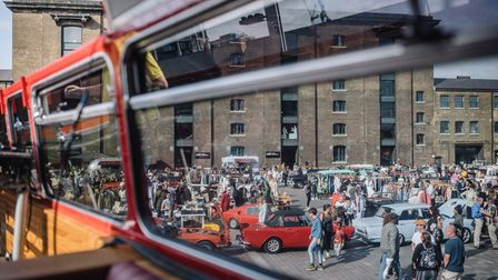 A view from the original Routemaster bar at the Classic Car Boot Sale.