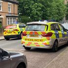 A police car and a paramedic's vehicle in Duncombe Road, Archway