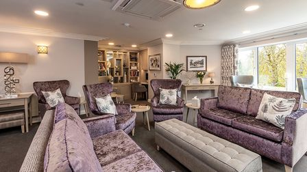 Living area at Potters Grange residential home in Hertfordshire.