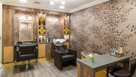 Hairdressing salon and spa at Potters Grange care home in Hertfordshire.