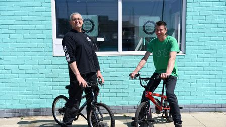 Chris Blomeley and Dave Penny from the Ipswich Bike Project