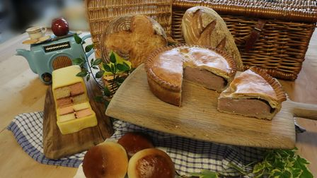 Platter of breads and pies