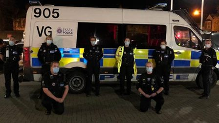 Essex Police Specials getting ready for a patrol, November 2020