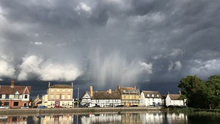 Mill Wilmott captured this stormy image of Godmanchester Causeway.