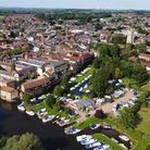 Sean Ryan took this image of the Riverside Park, in St Neots, with a drone.