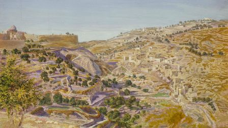 Thomas Seddon Jerusalem and the Valley of Jehoshaphat from the Hill of Evil Counsel