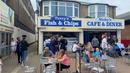 Terry's Fish and Chip store on Great Yarmouth seafront.