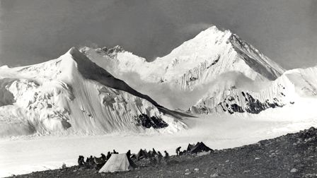 Everest at 20,000 feet above sea level on the last day of the 1921 expedition.