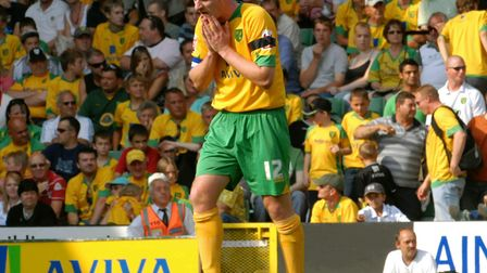 Norwich City v ColchesterGary Doherty at the end of a 7-1 home defeat