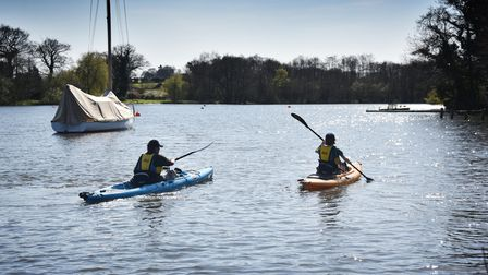 Canoeing or kayaking on the Broads is a great way to explore