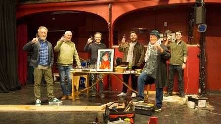 The Gallery Players steering group working on getting the former New Wolsey Studio ready for a September opening