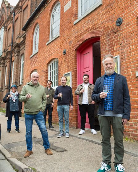 The Gallery Players steering group outside their new home