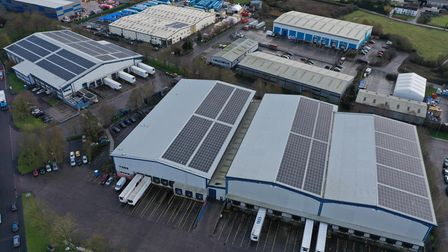 The solar system installed will provide a third of the electricity demand of the Isleport site.