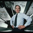 Rupert Murdoch in his pomp,at the printing presses of the New York Post in 1985