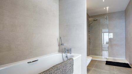 This brand new apartment has two bathrooms