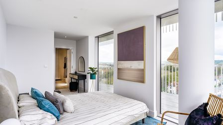 The bedrooms are awash with natural light