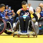 Chris Ryan in action for Great Britain Wheelchair Rugby team