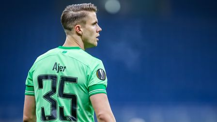 Celtic's Kristoffer Ajer during the UEFA Europa League Group H match at The San Siro Stadium, Milan.